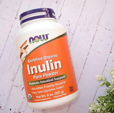 Now Foods органический инулин, пребиотик в порошке. 227 г