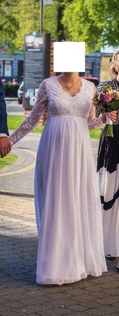 Suknia ślubna-ciążowa