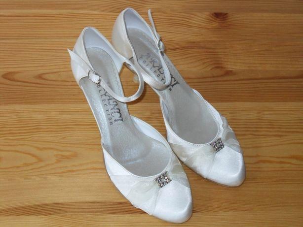 Nowe niskie buty ślubne ecru 38