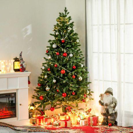 Árvore Artificial de Natal com Base Dobrável Ø105x210cm Verde