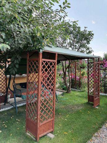Namiot ogrodowy drewniany