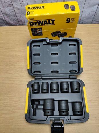DeWALT набор торцевых головок DT7507, 9шт, в кейсе