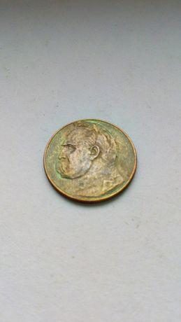 5 zł 1934 Piłsudski strzelecki srebro przedwojenna moneta patyna II RP