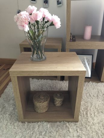 Półka szafka stolik kwadratowy kwadrat