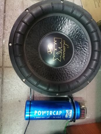 Głośnik Lanzar 12' 30cm 1000w  + kondensator 1 farad + gratis