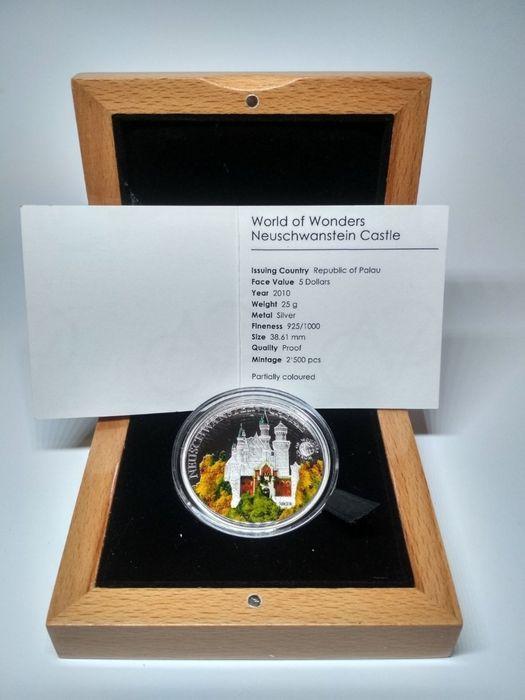 "Монета ""World of Wonders Neuschwanstein Castle"", Замок Нойшванштайн. Одесса - изображение 1"