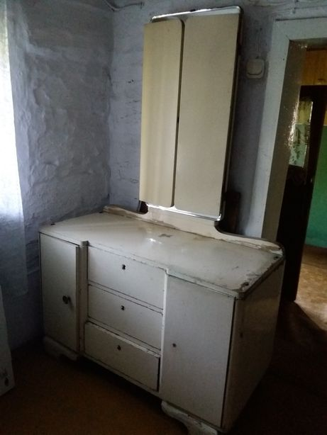 Zabytkowe stare lustro składane, komplet, antyk do renowacji.