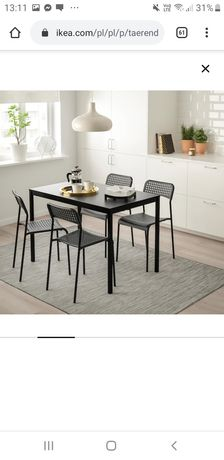 Stół z 4 krzesłami Ikea