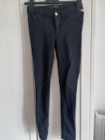 Spodnie jeansy czarne rurki 36 S Cropp