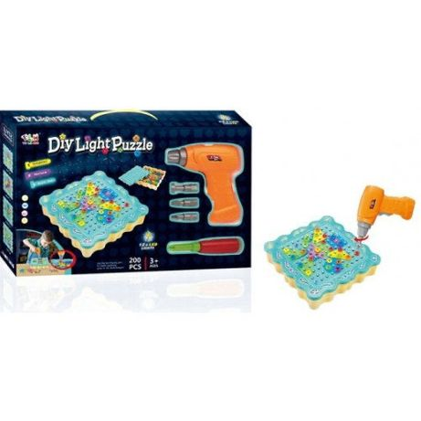 "Конструктор Tu Le Hui ""Diy Light Puzzle"" (200 детали) 12LED TLH-19"