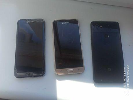 Samsung s7edge, Google pixel 2 xl, Samsung j3