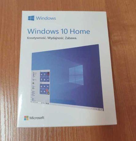 Zafoliowany Windows 10 home BOX 32/64bit PL dowód zakupu USB