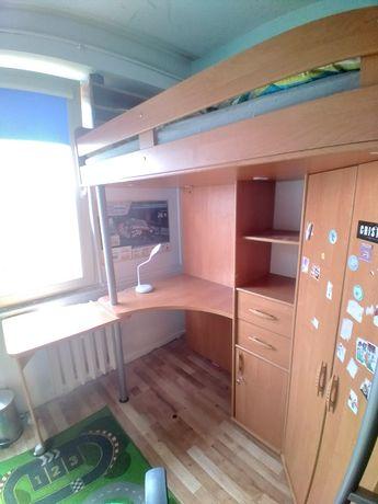Łóżko piętrowe, biurko, szafa do pokoju dziecięcego
