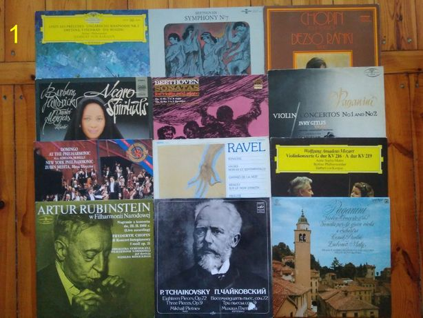 Płyty winylowe klasyka m.in Chopin Bach Thaikovsky Mozart, jazz i inne