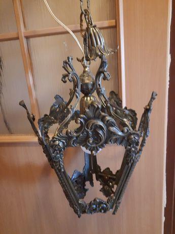 Lampa z mosiądzu wisząca