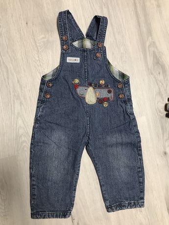 джинсовый комбинезон детский
