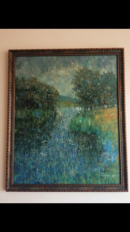 Картина «Дождь.Обложной» Е.Смирнов