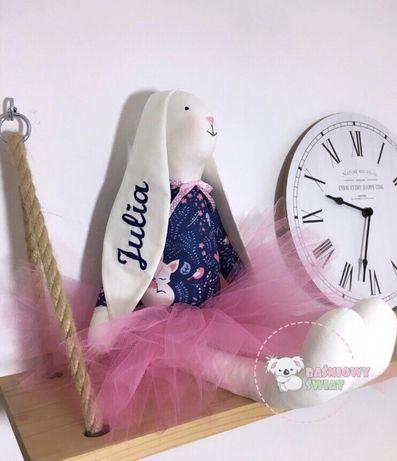 Zajączek/zajac / królik  imienny przytulanka  /handmade