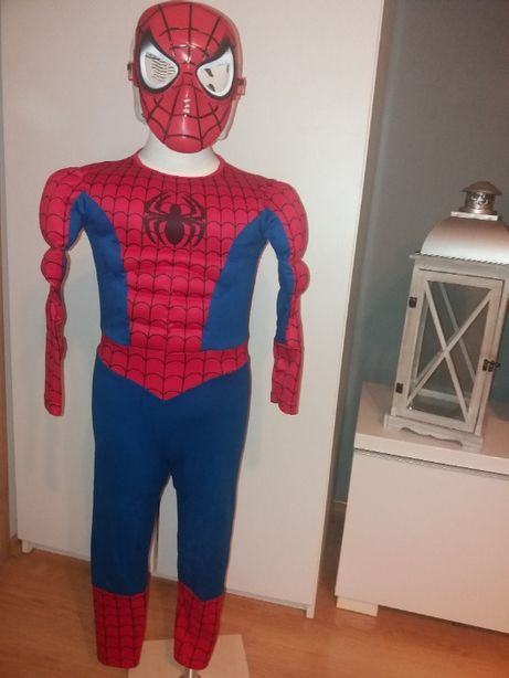 NOWY strój karnawałowy SPIDERMAN MIĘŚNIE przebranie kostium 98/104 (2)