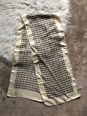 Шикарный шелковый платок шарф aquascutum в стиле burberry