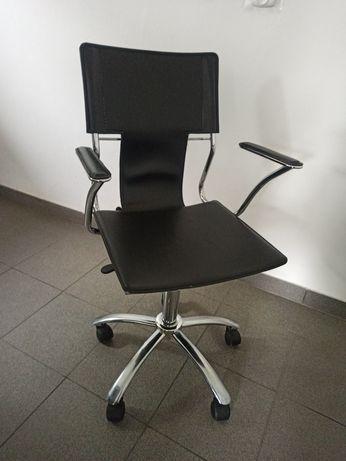Fotel/krzesło obrotowe, biurowe, skóra