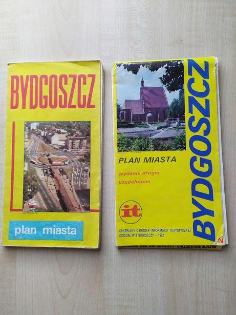 Dla kolekcjonerów, Plan Miasta Bydgoszcz, 2 sztuki, 1983 i 1992 rok