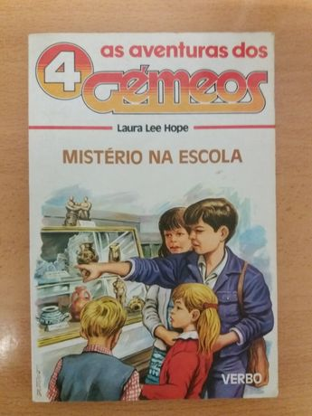 """Livro """"As aventuras dos 4 Gémeos"""""""