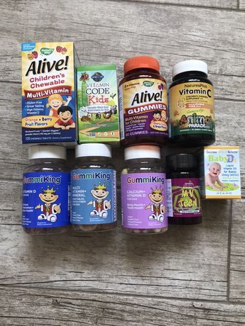 Витамины для  детей , Кальций для  детей , Витамин С , Витамин Д3