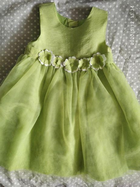Красивое нарядное платье на 1-2 года