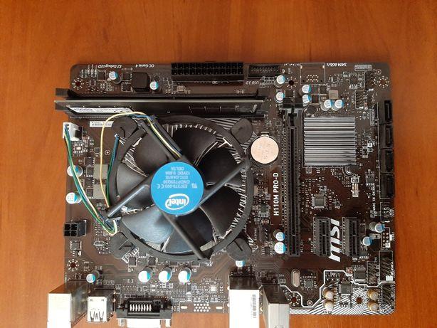 MSI H 110M pro-D з процесором Intel g4400,4gb ddr4