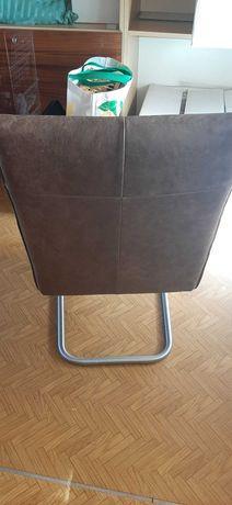 Fotel skóra brązowa