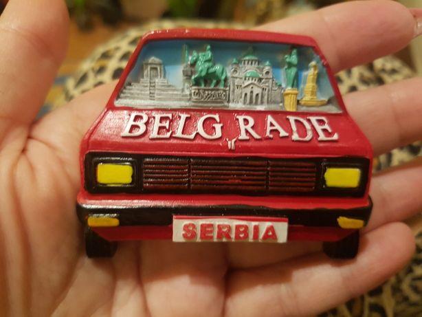 Śliczny nowy magnes na lodówkę Serbia