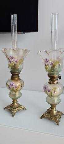 Lampy naftowe dwa identyczne egzemplarze