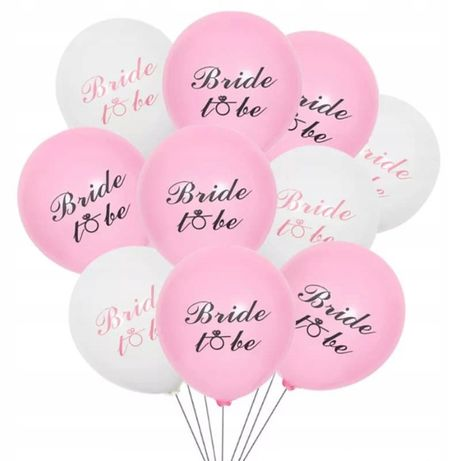 Balony lateks zestaw wieczór panieński bride to be gumowe panna młoda