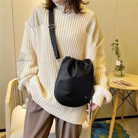 260 Женская сумка мешок через плечо, для школьников мессенджер унисекс