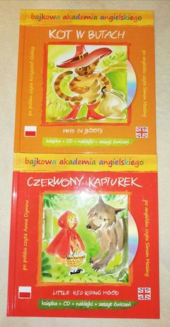 Bajki - Kot w butach, Czerwony kapturek - pl/ang.