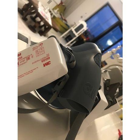 Maska półmaska 3m 7502 z filtrami 3m 6035 FFP3