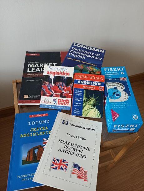 Angielski - zestaw do nauki - podręczniki, fiszki, słowniki, idiomy