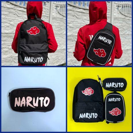 Акція! Рюкзак, сумка-слім і пенал аніме Наруто Naruto роздріб опт