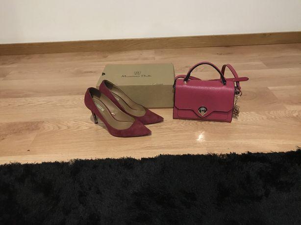 Sapatos massimo dutti 39 rosa e mala stiletto