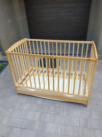Łóżeczko niemowlęce sosnowe 120x90