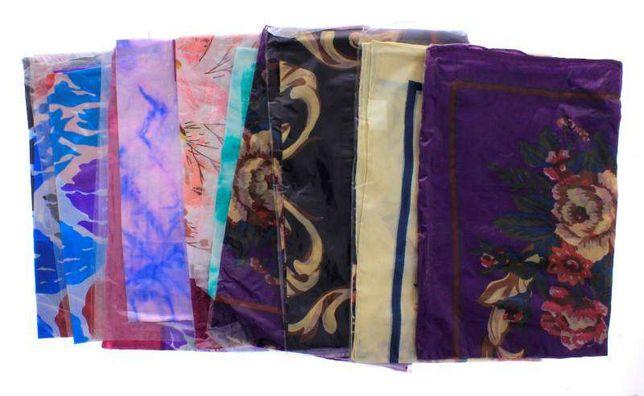 10 lenços de seda