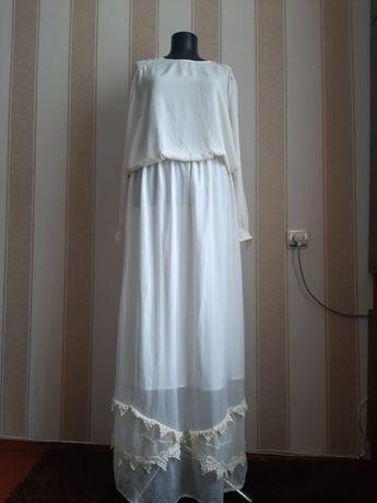 Платье в пол, длинное, макси, летнее.