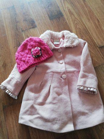Kurtka płaszczyk wiosenny dziecięcy dziewczęcy rozmiar 86 różowy