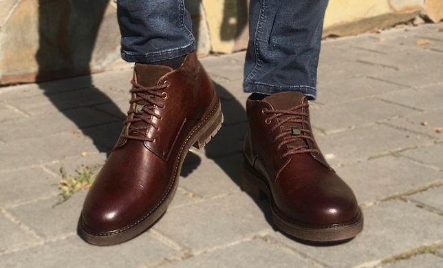 Черевики чоловічі осінні шкіряні Timberland // ботинки мужские осенние