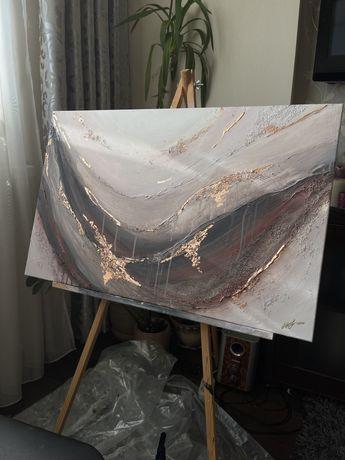 """Картина в интерьер """"WIND"""", живопись, абстрактная живопись."""