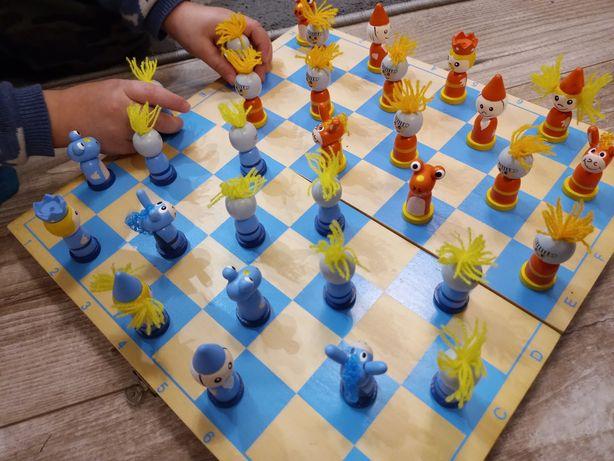 Drewniane szachy dla dzieci