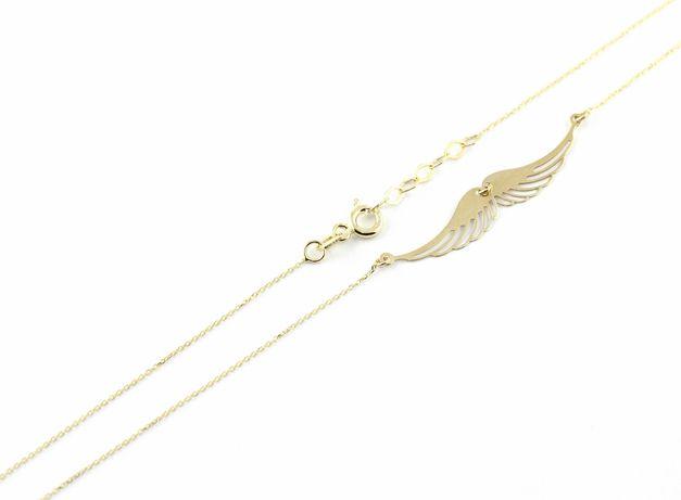 Złoty łańcuszek CELEBRYTKA SKRZYDŁA złoto pr.585