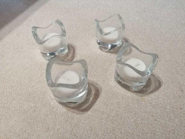 Świeczniki szklane - 4 sztuki