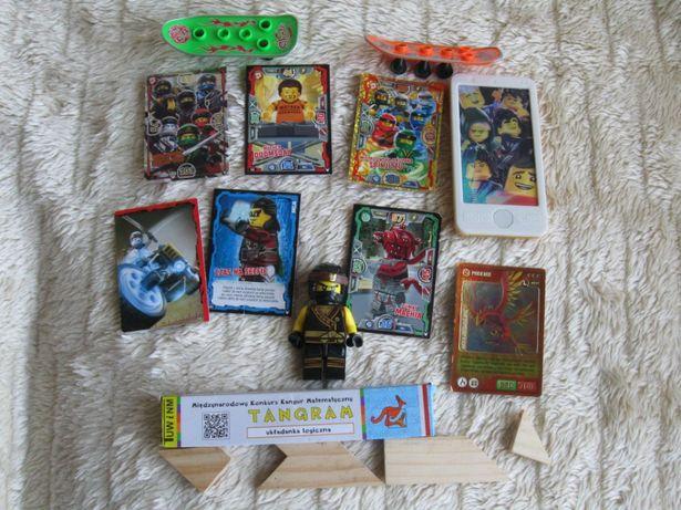 Zestaw Lego Ninjago karty gra Tangram